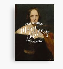 Mary Shelley - The Original Sci-Fi Nerd Canvas Print