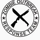 ZOMBIE OUTBREAk RESPONSE TEAM gun & Machete by thatstickerguy