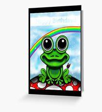 Frog Cushion / Birthday Card Greeting Card