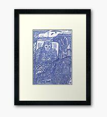 komik rebel Framed Print