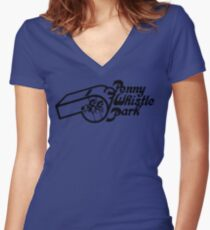 Penny Whistle park Women's Fitted V-Neck T-Shirt