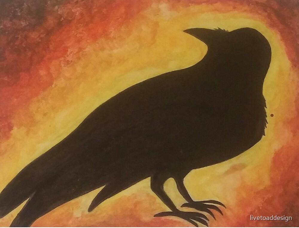 golden glow crow by livetoaddesign