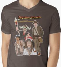 Indiana Holmes and the Comedians of Doom Mens V-Neck T-Shirt