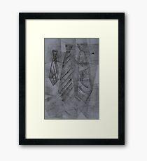 Ties Framed Print