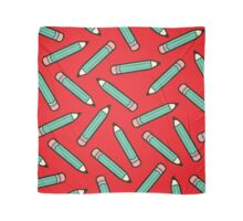 Pencil Power Red Pattern Scarf
