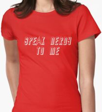 nerdy to me Womens Fitted T-Shirt