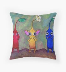 Pikmin: See No Evil, Speak No Evil, Hear No Evil Throw Pillow