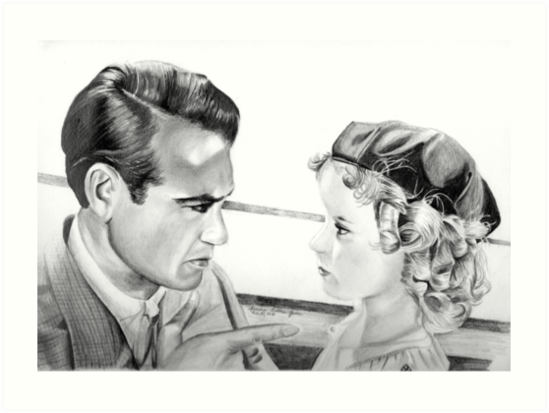 GARY COOPER AND SHIRLEY TEMPLE by Sandra  Aguirre