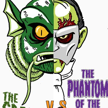 The Creature vs The Phantom by monsterfink