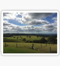 Glasshouse mountains, Australia  Sticker