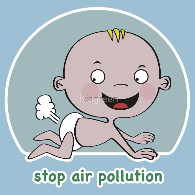 how to draw air pollution
