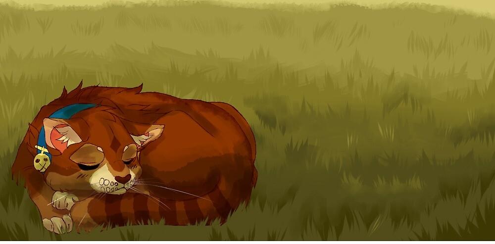 Orange cat by Ikebee