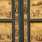 Bronze church-door  by Arie Koene