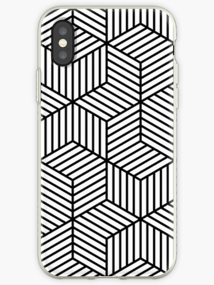 Black and White Geometric Pattern by emrapper