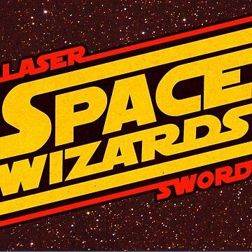 LASER SWORD SPACE WIZARDS by beastpop