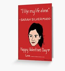 Sarah Silverman Greeting Card