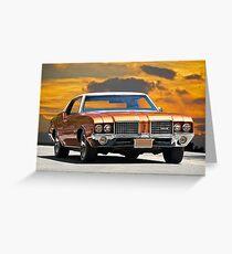 1971 Oldsmobile Cutlass Greeting Card