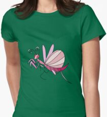Pink Orchid Mantis Womens Fitted T-Shirt