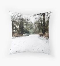 Winter's Long Walk Home Throw Pillow