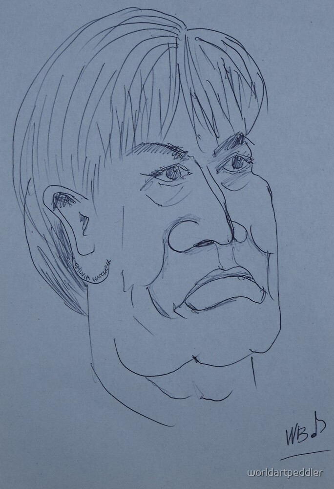 Man With Strong Features Drawing by worldartpeddler