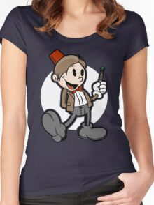 Vintage Doctor 11 Women's Fitted Scoop T-Shirt