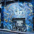 Lone bike in Hosier Lane by djzontheball