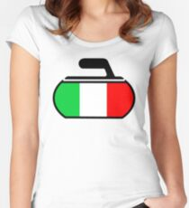 Italy Curling Women's Fitted Scoop T-Shirt