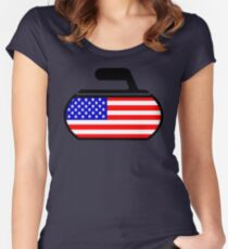 USA Curling Women's Fitted Scoop T-Shirt