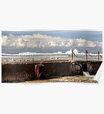 The Canoe Pool - Newcastle Beach NSW Australia Poster