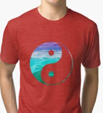 Yin & Yang (Aqua Water) Tri-blend T-Shirt
