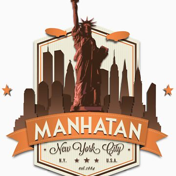 Manhatan Retro-style Badge (Inspired by Fringe) by Stagika87
