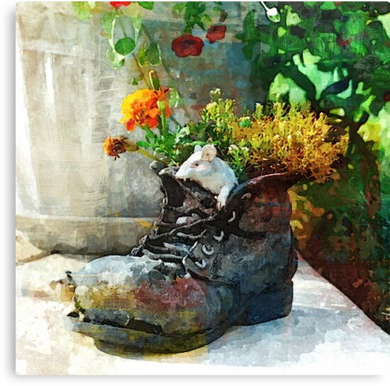 Boot With Flowers - Art Print by avalonmedia