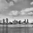 San Diego Skyline in HDR by Rosalee Lustig