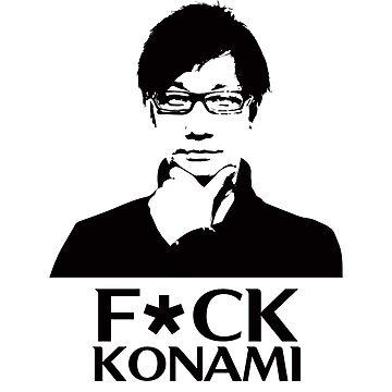 Hideo Kojima F*CK KONAMI by KITTYHAWK