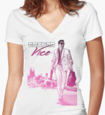 Miami Women's Fitted V-Neck T-Shirt