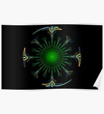 Peacock Mandala Poster