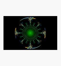 Peacock Mandala Photographic Print