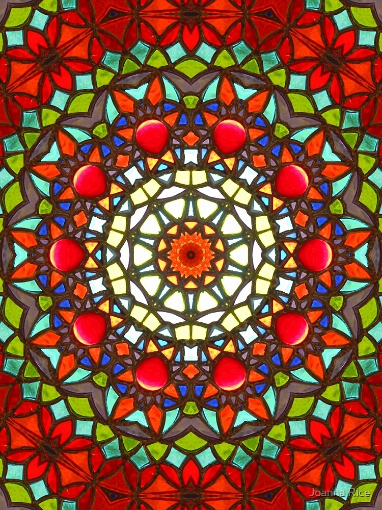 Stained glass Mandala by Joanna Rice