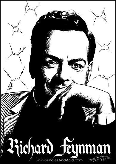 Quot Richard Feynman Quot Poster By Anglesandacid Redbubble