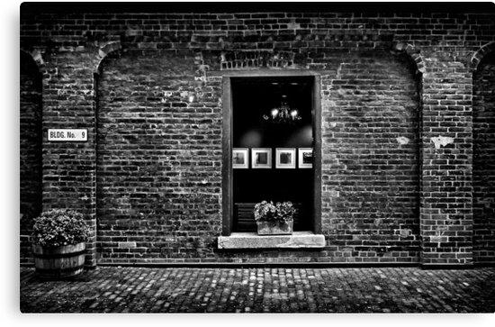 Toronto Distillery District Art Gallery Window by Brian Carson