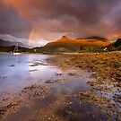Scotland - Rainbow over Glencoe by Angie Latham