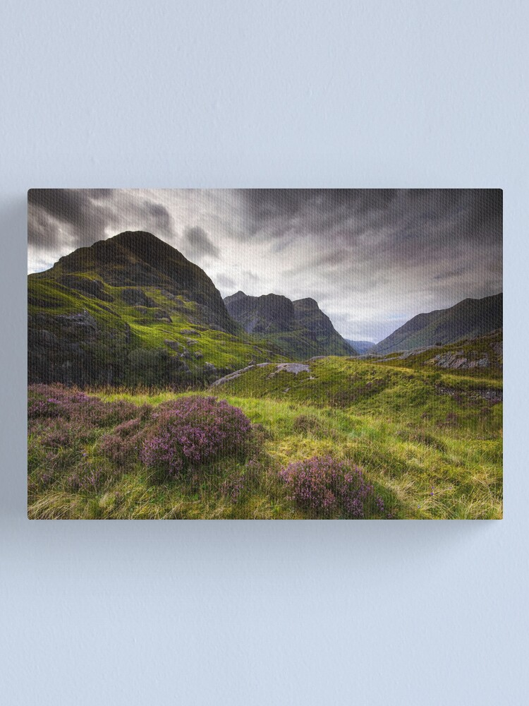 Alternate view of Scotland - Glencoe Heather Canvas Print