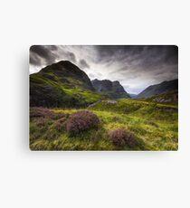 Scotland - Glencoe Heather Canvas Print