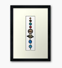 Planets Colour Framed Print