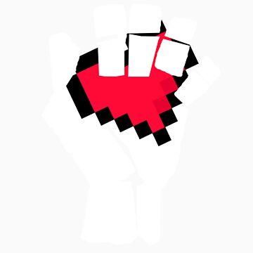 8-Bit Heart Fist by ThatWalder