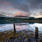 Scotland- Loch leven twilight by Angie Latham