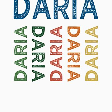 Daria Cute Colorful by wordytype