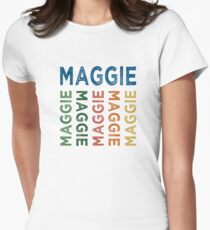 Maggie Cute Colorful Women's Fitted T-Shirt