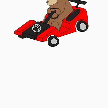Go-kart Bear by gerbor