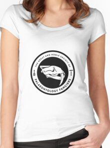 The Society of Palaeontology Fanciers (Black on Light) Women's Fitted Scoop T-Shirt